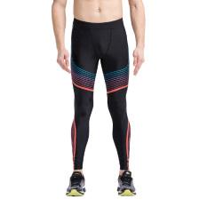 Beli Vansydical Pria Kompresi Celana Colorful Dicetak Legging Fitness Celana Elastisitas Tinggi Cepat Kering Yoga Celana Sport Celana Hitam Merah