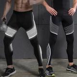 Jual Vansydical Baru Kedatangan Legging Reflektif Stripe Printed Running Fitness Workout Elastisitas Tinggi Cepat Kering Yoga Celana Hitam Silver Vansydical Di Tiongkok