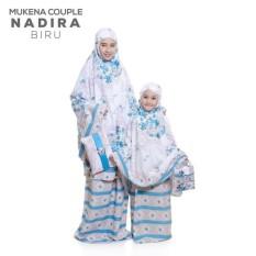 Jual Vantaolshop Couple Mukena Katun Adem Ibu Dan Anak Nadira Warna Biru Branded