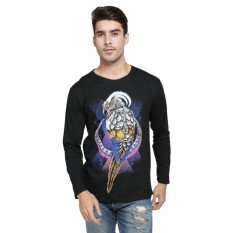 Vanwin - Kaos Distro Premium Pria Lengan Panjang OWL Back - Hitam