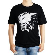 Vanwin - Kaos T-Shirt Distro Premium Anime Kakashi Scare - Hitam