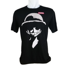 Vanwin - Kaos Pria T-Shirt Distro Premium Anime One Piece Luffy - Hitam