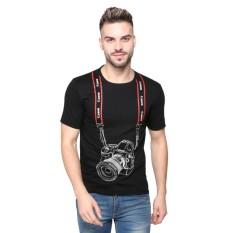 Vanwin - Kaos T-Shirt Distro Premium Camera Fotografer Canon Strap - Hitam