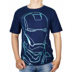 Vanwin - Kaos T-Shirt Distro / kaos Pria / Tshirt Pria / Distro Pria / Baju Pria Premium Iron Man Smile - Biru Navy