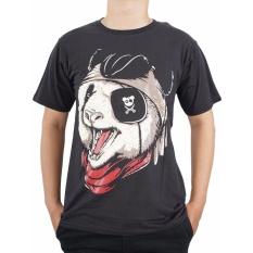 Vanwin - Kaos T-Shirt Distro Premium Musang Pirate - Hitam