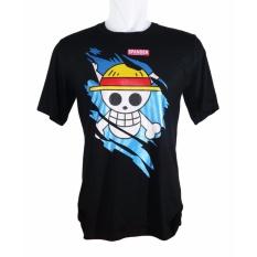 Vanwin - Kaos T-Shirt Distro Premium Anime One Piece - Hitam
