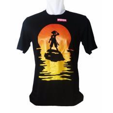 Vanwin - Kaos T-Shirt Distro Pria One Piece Luffy Sun - Hitam