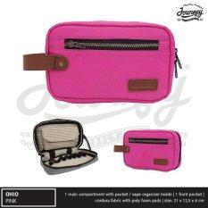 Ulasan Lengkap Tentang Vapor Bag Gadget Hand Bag Tas Pouch Jinjing Travel Dompet Kosmetik Journey Ohio Pink