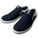 Harga Distro 121 Sepatu Casual Santai Pria Slipon Biru Distro Ori