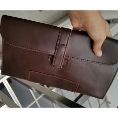 Nick - Dompet Clutch Panjang Pria Coffee - Men's Wallet VB346