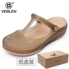 Perbandingan Harga Veblen2017 Perempuan Datar Dengan Sandal Pantai Sepatu Berlubang Teh Emas 6601 Tidak Berubah Warna Sepatu Wanita Sendal Wanita Di Tiongkok