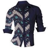 Harga Ve Label Kemeja Extro Batik Navy Dan Spesifikasinya