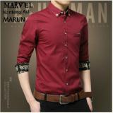 Ve Label Kemeja Marvel Maroon Ve Label Diskon 30