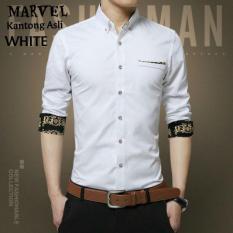Jual Ve Label Kemeja Marvel White Grosir