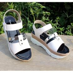 Jual Velco Strap Wedges Sandal Hanna Marlee Amg 12 Putih Baru
