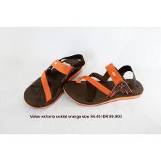velox victoria sepatu sendal wanita coklat orange