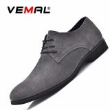 Harga Vemal Gaya Inggris Pria Kulit Sepatu Santai Oxfords Pria Nyaman Flats Bisnis Sepatu Abu Abu Intl Vemal Ori