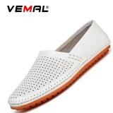 Diskon Vemal Kulit Sapi Men S Flats Sepatu Moccasin Casual Loafers Slip On White Intl