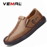 Toko Vemal Kulit Pria Flats Sepatu Moccasin Casual Loafers Slip On Khaki Intl Tiongkok