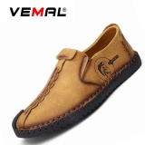 Review Vemal Kulit Men S Flats Sepatu Moccasin Casual Loafers Slip On Kuning Intl