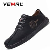 Review Vemal Kulit Pria Sepatu Buatan Tangan Perhiasan Logam Campuran Casual Sepatu Kulit Hitam Intl Terbaru