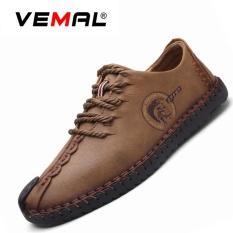 Beli Vemal Kulit Handmade Shoes Pria Formal Sepatu Kasual Kulit Sepatu Khaki Intl Dengan Kartu Kredit