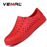 Diskon Vemal Pria Busana Kasual Mesh Sneaker Menyerap Keringat Slip On Lazy Sepatu Sandal Pantai Sandal Jepit Sandal Merah Intl Vemal Tiongkok
