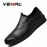 Harga Vemal Pria Kulit Asli Formal Sepatu Kasual Pantofel Bisnis Sepatu Kulit Sepatu Sepatu Slip On Hitam Internasional Original