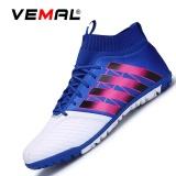 Jual Vemal Pria Turf Indoor Sepak Bola Futsal Boots Sepatu Outdoor Soccer Boots Biru Intl Vemal Branded