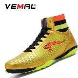 Jual Beli Online Vemal Pria Turf Indoor Sepak Bola Futsal Boots Sepatu Outdoor Soccer Boots Emas Intl