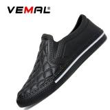 Spesifikasi Vemal Wanita Sepatu Casual Pria Kasual Mode Murah Merek Pria Wanita Loafers Flat Valentine Shoes Hitam Intl Murah