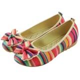 Toko Veowalk Sepatu Women Colorful Linen Kanvas Balet Flat Bowknot Retro Comfort Slip On Shoes Merah Intl Termurah Di Tiongkok