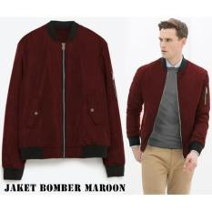 Verboten Jaket Bomber Pilot Trendy Best Seller - Merah Maroon