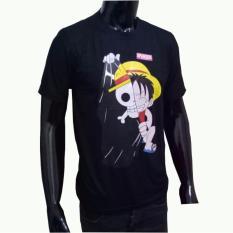 VERICHI - Kaos T-shirt Distro Atasan Pria Sablon ANIME Tokoh Kartun SUPER HERO Bahan Spandex Rayon Gambar One Piece MASK