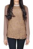 Jual Verina Fashion Vardah Long Blouses Cokelat Satu Set