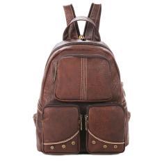 Jual Beli Vernyx Women S Simple Line Backpack Bag Tsx611 Brown Tas Ransel Wanita