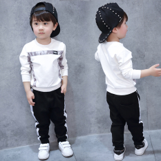 Toko Baobao Korean Style Boy S Autumn New Style Casual Hoodie Putih Other Tiongkok