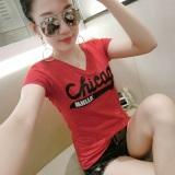 Spesifikasi Atasan Korea Fashion Style Kemeja Hitam Perempuan Terlihat Langsing 072 Merah Baju Wanita Baju Atasan Kemeja Wanita Baru