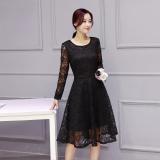 Jual Korean Style New Style Slim Fit Base Dress Hitam Oem Ori