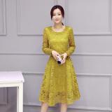 Beli Korean Style New Style Slim Fit Base Dress Jahe Kuning Baru