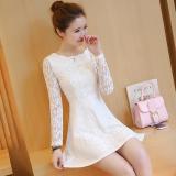 Jual Versi Korea Baru Temperamen Slim Gaun Putih Grosir