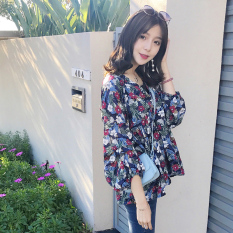 Beli Versi Korea Baru V Neck Puff Sleeve Baju Warna Baju Wanita Baju Atasan Kemeja Wanita Online