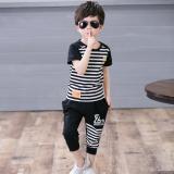 Toko 2 Pcs Celana Pendek Anak Laki Laki Gaya Korea Anak Laki Laki Bergaris Jas Musim Panas Ayat Gambar Warna Anak Laki Laki Bergaris Jas Musim Panas Ayat Gambar Warna Lengkap Tiongkok