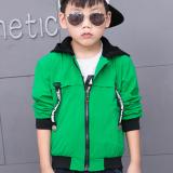 Jual Versi Korea Dari Anak Laki Laki Anak Anak Baru Kemeja Ritsleting Jaket Hijau Oem Di Tiongkok