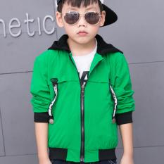 Katalog Versi Korea Dari Anak Laki Laki Anak Anak Baru Kemeja Ritsleting Jaket Hijau Terbaru