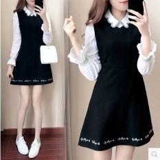 Versi Korea Dari Bagian Panjang Rok Gaun Musim Semi Jas Rok Promo Beli 1 Gratis 1