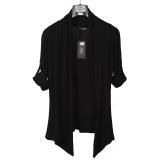 Harga Korea Fashion Style Bagian Tipis Kerah Slim Pakaian Pria Jas Cardigan Hitam Hitam Baju Atasan Sweter Pria Yang Bagus