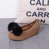 Jual Sepatu Wanita Barang Sisa Sepatu Liar Bernapas Sepatu Sol Tebal Coklat Sepatu Wanita Flat Shoes Online Indonesia