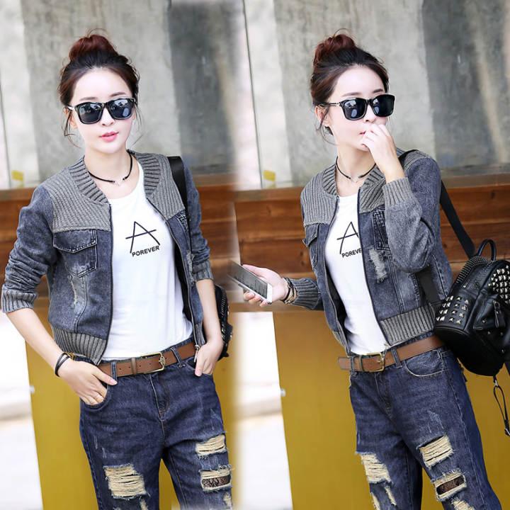 Jaket Pendek Fashion Wanita Gaya Korea (Gambar warna) (Gambar warna)