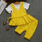 Diskon Produk Set Korea Fashion Style Katun Gadis Musim Panas Kuning